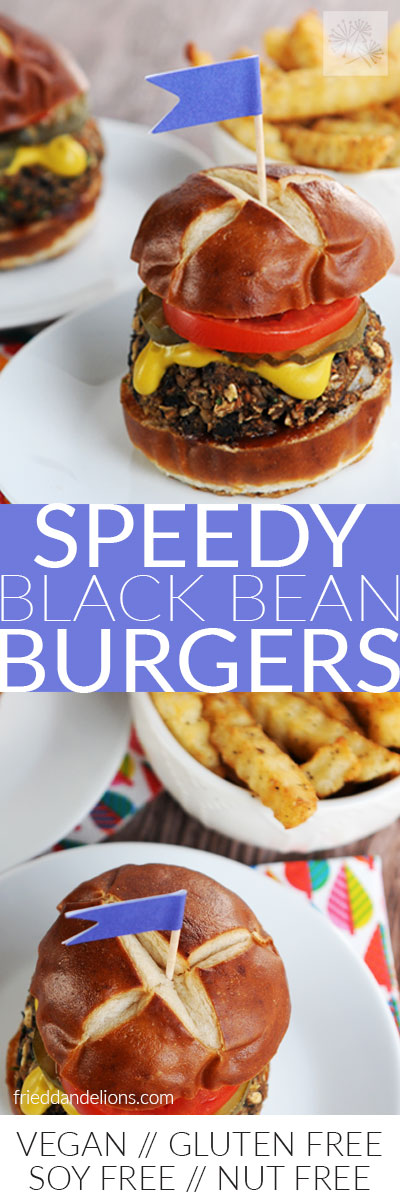 Speedy Black Bean Burgers long pin