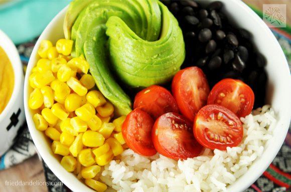 easy vegan nacho bowl horizontal