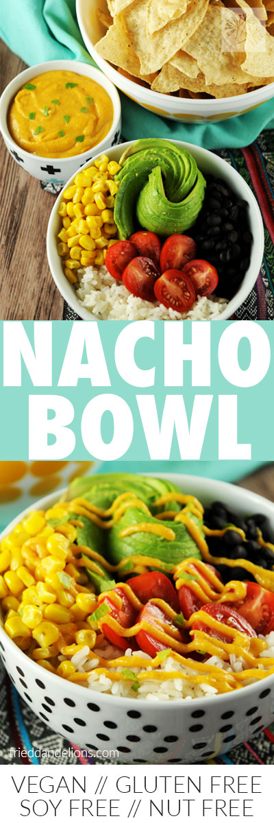 easy vegan nacho bowl longpin