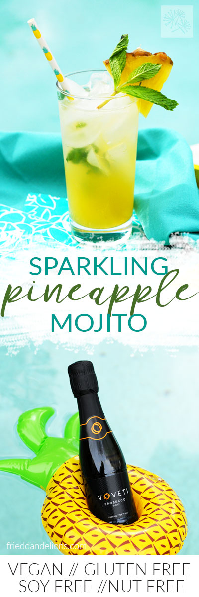 pineapple mojito with text
