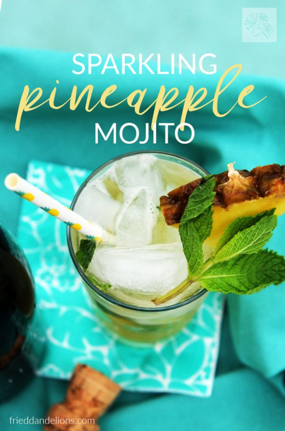 pineapple mojito overhead shot