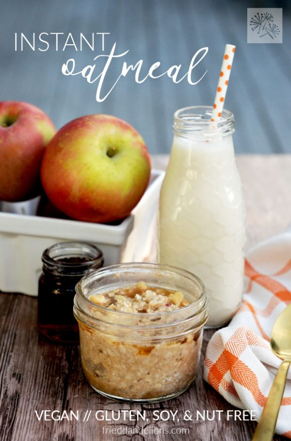 Instant Oatmeal with apples and milk