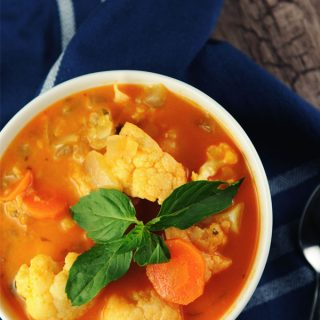 Red Curry Soup with Lentils by Vegan Richa