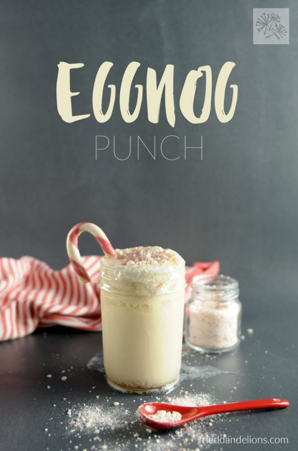 This Vegan Eggnog Punch is an instant throwback to Christmas parties past, with a grown up kick!