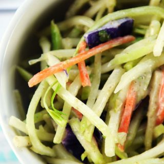 Broccoli Slaw with Oil Free Tahini Dressing
