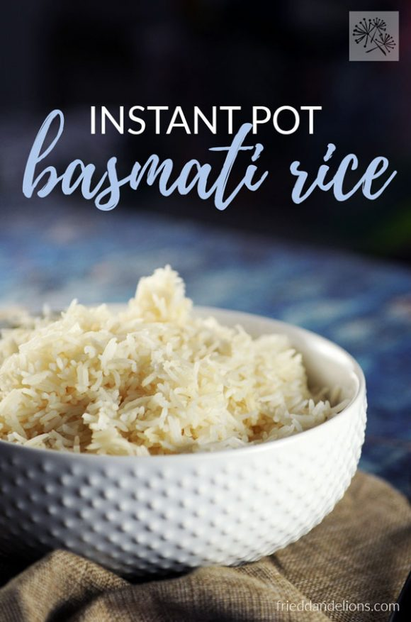 Instant Pot Basmati Rice with text
