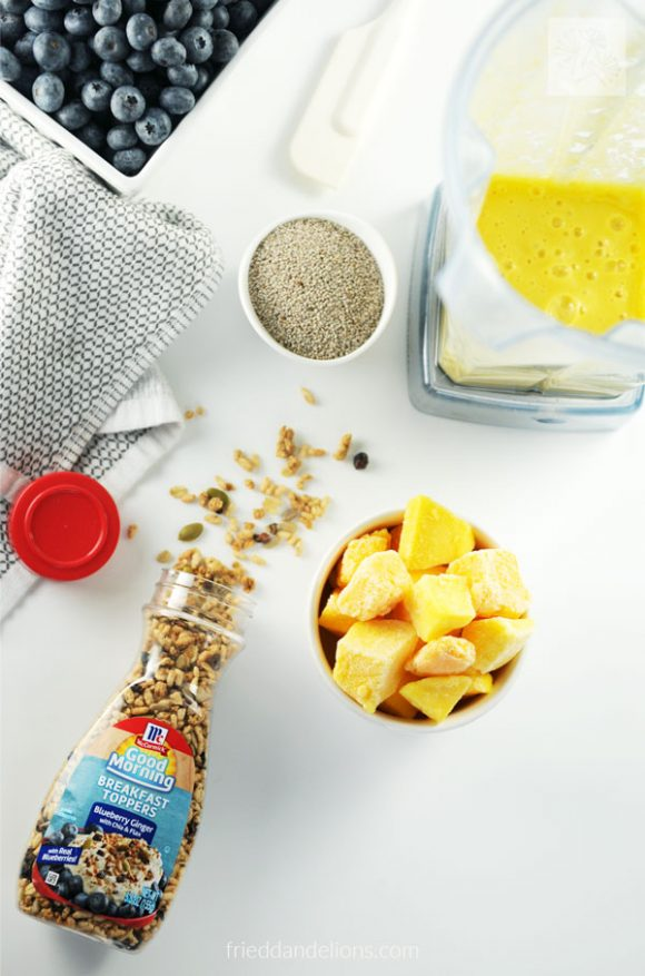 ingredients used for making Mango Chia Pudding Parfait