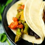 Braised Asparagus Tacos in Escabeche