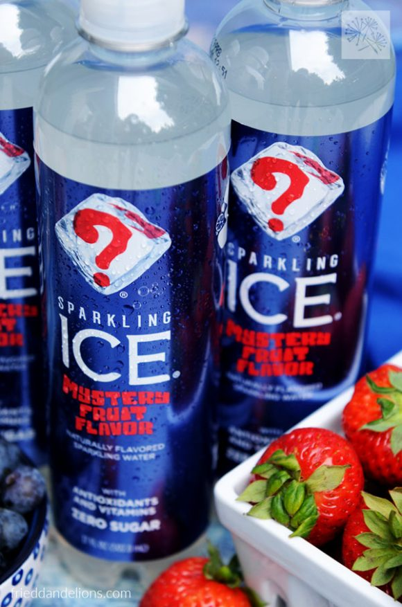 Close up of Sparkling Ice Mystery Flavor bottles