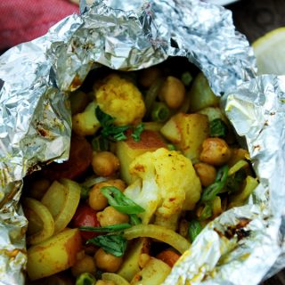 Cauliflower Curry Grill Packets from Vegan Yack Attack On The Go!