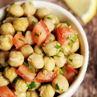 Chickpea Salad with Lemon and Shallots + a Trip to Brooklyn