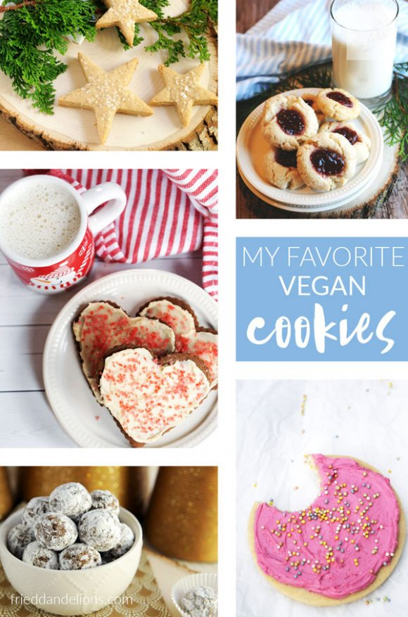 collage of My Favorite Vegan Cookies with text