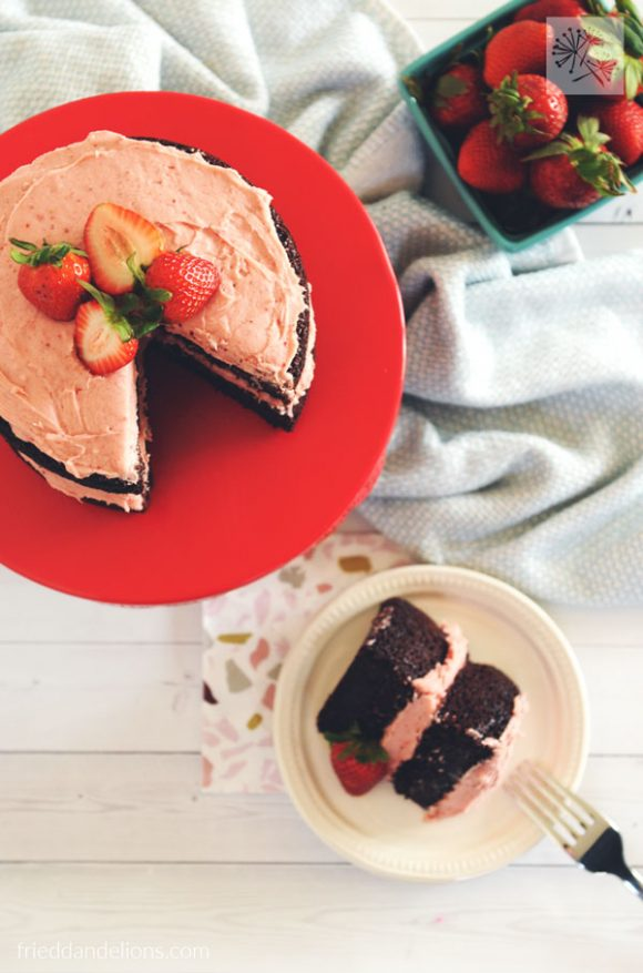 chocolate birthday cake - vegan recipes that are PINK