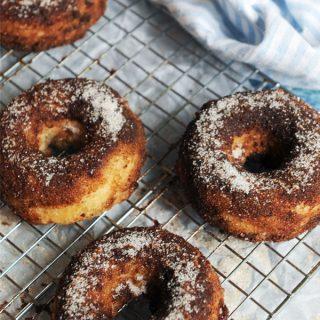 Drool-Worthy Vegan Cinnamon Donuts from A Virtual Vegan