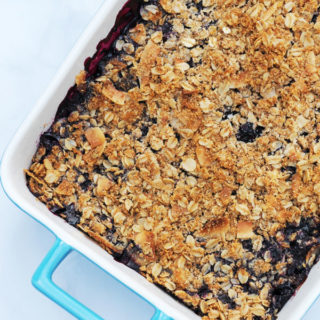 Vegan Blueberry Crisp with Almond Topping (Gluten Free)