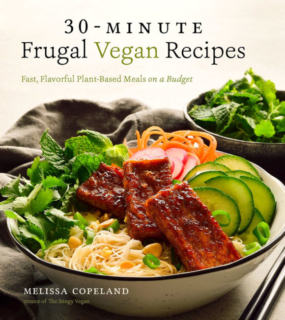 30-Minute Frugal Vegan Recipes cookbook by Melissa Copeland